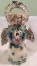 NWT Ceramic Angel From Blue Sky Clayworks By Heather Goldminc Christmas Decro