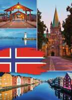 1000 PUZZLE ,  Trondheim Collage , RAVENSBURGER 198450