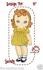 "Sandy the Rag Soft Doll Pattern & Clothes 15"" 3 dimensional doll vintage