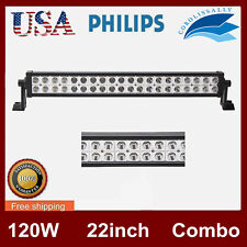 Philips 22''inch 120W LED WORK LIGHT BAR SPOT/FLOOD JEEP TRUCK OFFROAD 20/24/32""