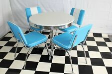 American 50s Diner Furniture 4 Blue Chairs With a free Retro Diner Table