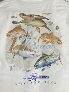 Guy Harvey Ocean Foundation Vintage Gulf Of Mexico Save Our Oceans Mens T-shirt