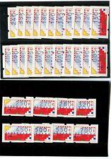 Ned. 1989 Automaat stroken AU1 t/m AU30 POSTFRIS!!!!  Cat.w. € 105,= ZIEN!!