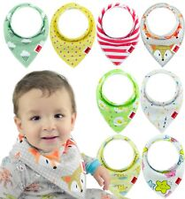 Baby Bandana Drool Bibs for Boys & Girls Unisex 8-Pack Gift Set 100% Organic
