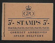 H27 5/- Wilding GPO booklet - March 1957 UNMOUNTED MINT/MNH