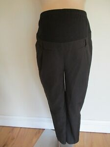 NEW LOOK MATERNITY BLACK OVER BUMP SLIM LEG WORK TROUSERS SIZE 12