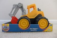 NIB Little Tikes Dirt Diggers Excavator in Rare Red/Yellow Color
