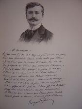 Gravure Portrait de Georges FEYDEAU 1900