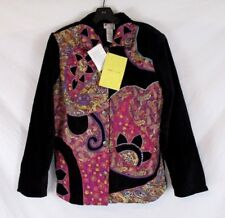 Spirit Sandy Sparkman Women Jacket Embellished Paisley Sz S Button CB65B NWT