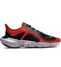 Nike Free RN 5.0 Shield  'Red Black' Mens Trainers Uk Size 9 BV1223 600 Genuine