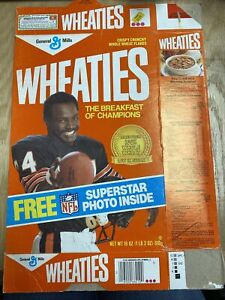 General Mills Wheaties Walter Payton Flat Box