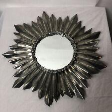 "Sun Mirror Decorative Wall Mirror Metal 18"""