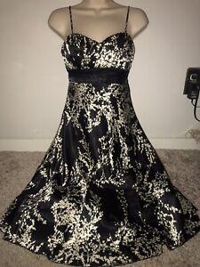 black & ivory botanical themed dress from Speechless junior size 9!