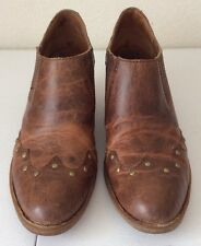 BORN Ankle Boots Booties Western Studs Leather Size Euro 42; US 10
