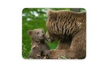 Mother & Cub Brown Bear Mouse Mat Pad - Bears Wild Animal Gift PC Computer #8261