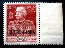 ITALIA REGNO OLTRE GIUBA 60 C GIUBILEO 1925 D. 13 1/2 MNH** CV € 22.500 ITALIE