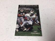 1997 Robert Morris College NCAA Football Pocket Schedule Card