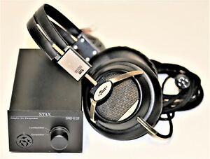 Stax SR-5 ELECTROSTATIC EAR SPEAKER WITH SRD-6/SB ADAPTOR