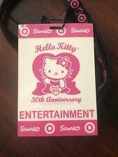 Hello Kitty 30th Anniversary Party Badge / Laminate + Original Lanyard