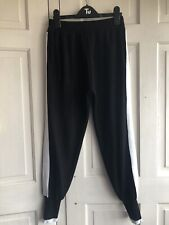 Black With White Stripe Knitted Joggers Will Fit 8-10