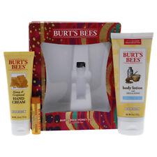 Burts Bees Honey Pot 3 PC Set for Unisex- 6oz Body Lotion With Milk Honey & More