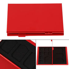 12 Slot Aluminum Alloy Micro SD Memory Card Protector Case Cover Card Holder Box