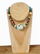 Handmade Wooden Beaded Costume Necklaces & Pendants