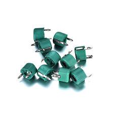 10PCS 30pF Green Plastic Adjustable Variable Capacitor 2 Pins Plastic and Metal