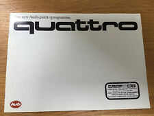 Audi Quattro 1995 UK Sales Brochure