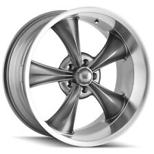 """Staggered Ridler 695 Front:18x8,Rear:18x9.5 5x127/5x5"""" +0mm Grey Wheels Rims"""