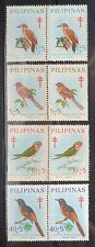 Philippines Year 1969 Scott B36-39 Blocks of 2 stamps MNG
