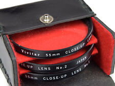 VIVITAR 55mm Close-Up set + Case ===Mint===