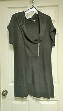 Alyx Gray Grey Short Sleeve Tunic Sweater XL