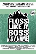 Fortnite FLOSS LIKE A BOSS  Personalised Cake Topper  HAPPY BIRTHDAY ANY NAME