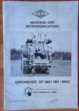 Kuhn Giroheuer GF 5801 MH / MHO Montage- und Betriebsanleitung