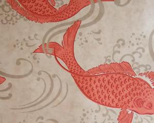 Osborne & Little Derwent Wallpaper Coral W5796-03