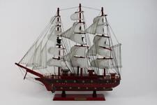 50 cm detailgetreues Modellschiff historisches Segelschiff 3 Master Holz