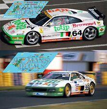 Calcas Ferrari 348 Le Mans 1994 55 64 1:32 1:43 1:24 1:18 decals