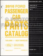 2010 Crown Victoria Grand Marquis MKS Parts Book Original Ford Lincoln Mercury