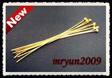 Free LOTS 100PCS Jewelry Design Repair Findings gold BALL HEAD Pins Needles 50MM