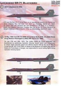 Print Scale Decals 1/72 LOCKHEED SR-71 BLACKBIRD