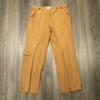 Tommy Bahama Womens Size 12 Tan Silk Linen Blend Pants