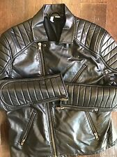 H&M Motorcycle Jacket Divided Size Large Men's Leather Rock N Roll