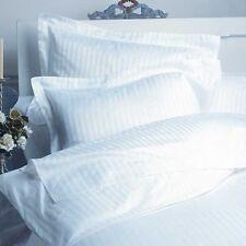 Duvet Cover Set Super King Size White Stripe 1500 TC 100% Egyptian Cotton