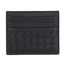 Bottega Veneta Card Case Leather Wallet Black
