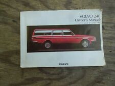 Volvo 240 Owners Manual  USA& Canada 1992  good daily driver condition