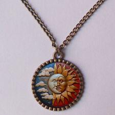 Sun Moon Necklace Face Kissing Charm Pendant Yoga Men Pendant Jewelry Chain