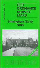 Old Ordnance Survey Map Birmingham East 1888 Bordesley Green Saltley
