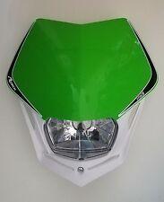 Mascherina Faro Anteriore Rtech Headlight V-FACE Bianco - Verde KXF Universale