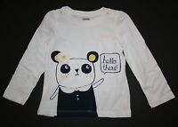New Gymboree Front and Back Panda Top Tee Shirt Size 2T NWT Flower Shower Line